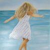 Strand, Mädchen, Meer, Fröhlichkeit