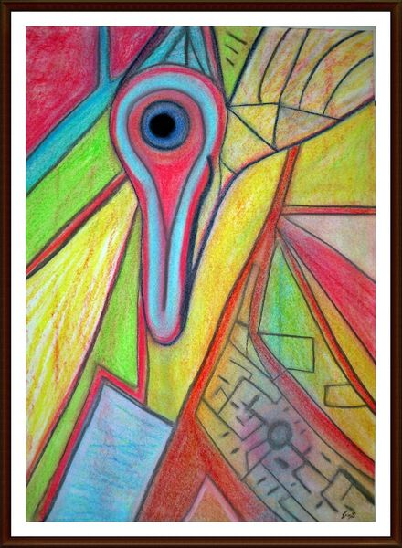 Verträumt, Farben, Fantasie, Spontan, Bunt, Figur