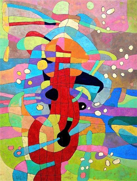 Ölmalerei, Expressionismus, Abstrakt, Panel, Malerei