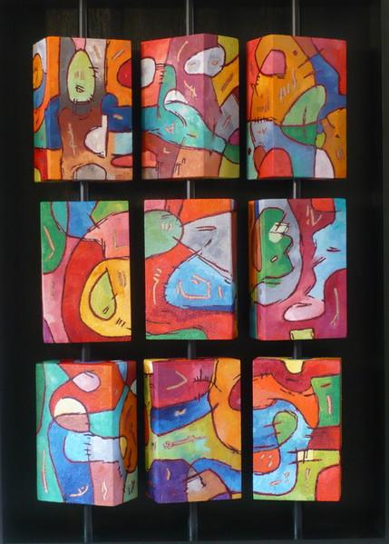 Abstrakt, 3d, Malerei