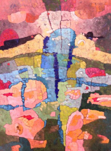 Panel, Expressionismus, Modern, Abstrakt, Ölmalerei, Malerei