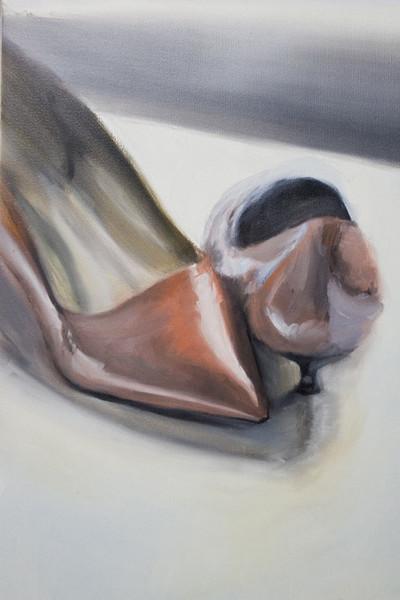 Pumps, Damenschuhe, Schuhe, Rot, Malerei, Stillleben