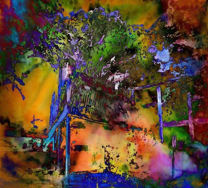 Feuerwalze, Zerstörung, Albtraum, Stimmung, Digitale kunst, Augenblick