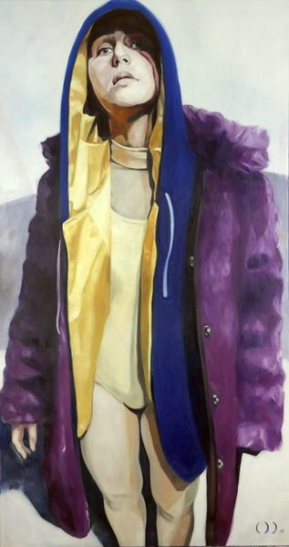 Portrait, Arrogant, Malerei,