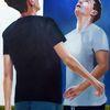 Fußball, Sport, Teenager, Malerei
