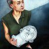 Melancholie, Dünn, Skulptur, Malerei