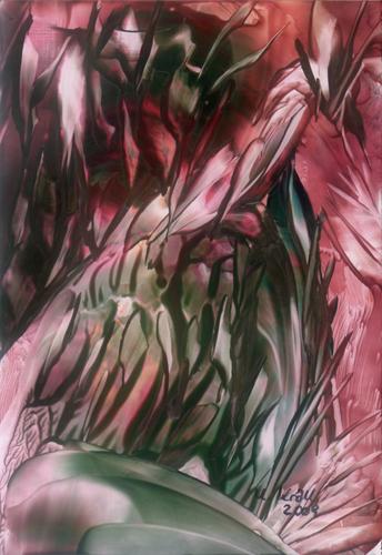 Blumenstrauß, Blumen, Malerei, Abstrakt