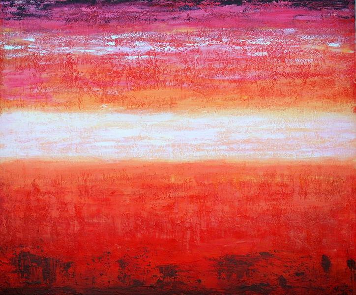 Landschaft, Mischtechnik, Acrylmalerei, Abstrakt, Malerei,
