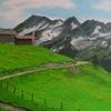 Zaun, Weide, Alpen, Berge