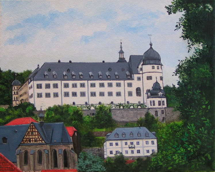 Schloss, Kirche, Sommer, Stolberg, Malerei, Harz