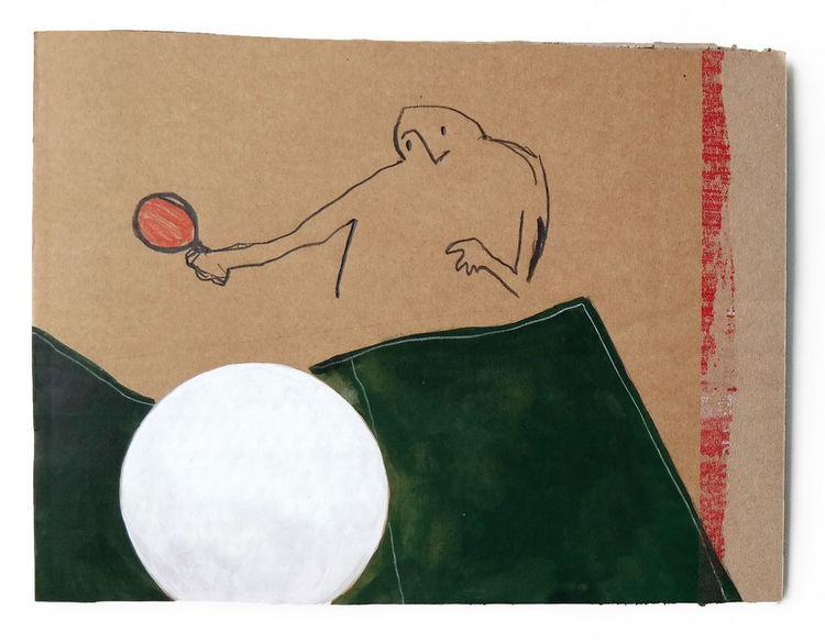 Spieler, Tischtennis, Platte, Ball, Zeichnungen
