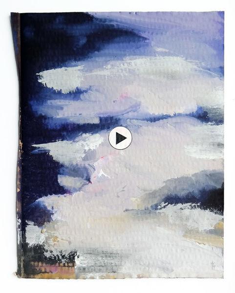 Bewegung, Himmel, Wolken, Malerei, Muss, Gehen