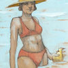 Meer, Badeanzug, Frau, Zeichnungen