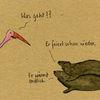 Vogel, Robbe, Zeichnungen,