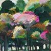 Baum, Herbst, Wald, Malerei