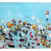 Wiese, Blumen, Himmel, Malerei