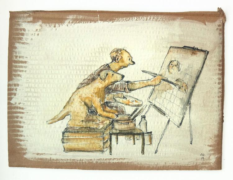 Hilfe, Malen, Muse, Zeichnungen