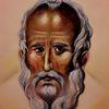Gesicht, Heiliger, Alter mann, Malerei