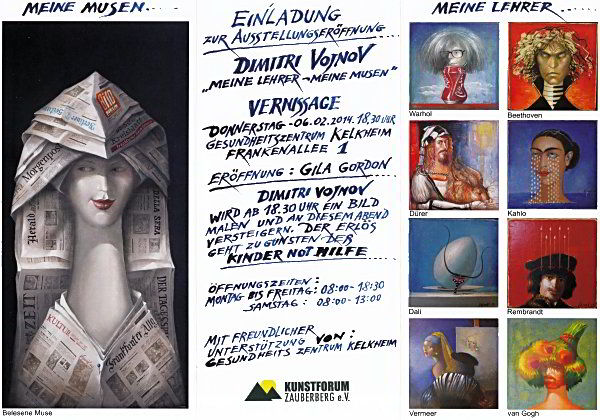 Ausstellung, Musen, Lehrer, Malerei