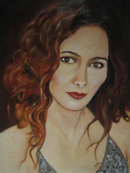Sevda, Portrait, Frau, Ölmalerei, Malerei