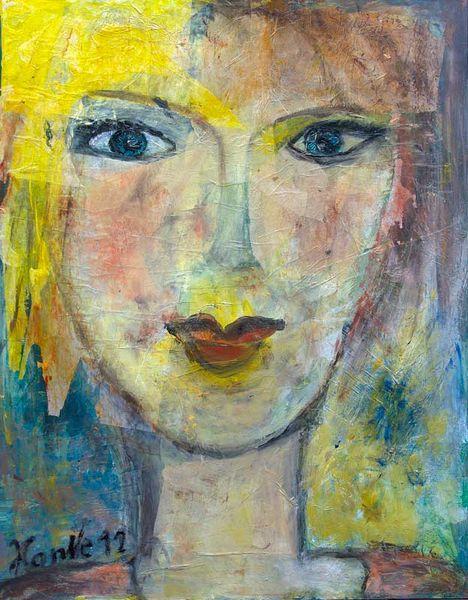 Braun, Türkis, Gesicht, Blau, 2012, Gelb