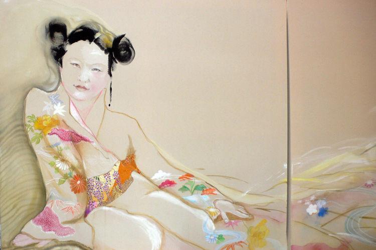 Mode, Modeschmuk, Kirschblüte, Figural, Kioto, Sehnsucht