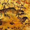 Acrylmalerei, Tuschezeichnung, Liegend, Abstrakt