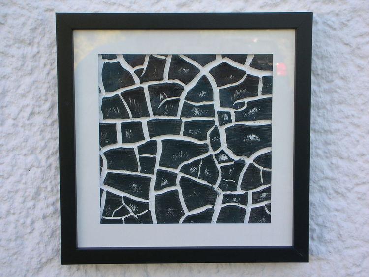 Schwarz weiß, Glas rahmen, Kunsthandwerk