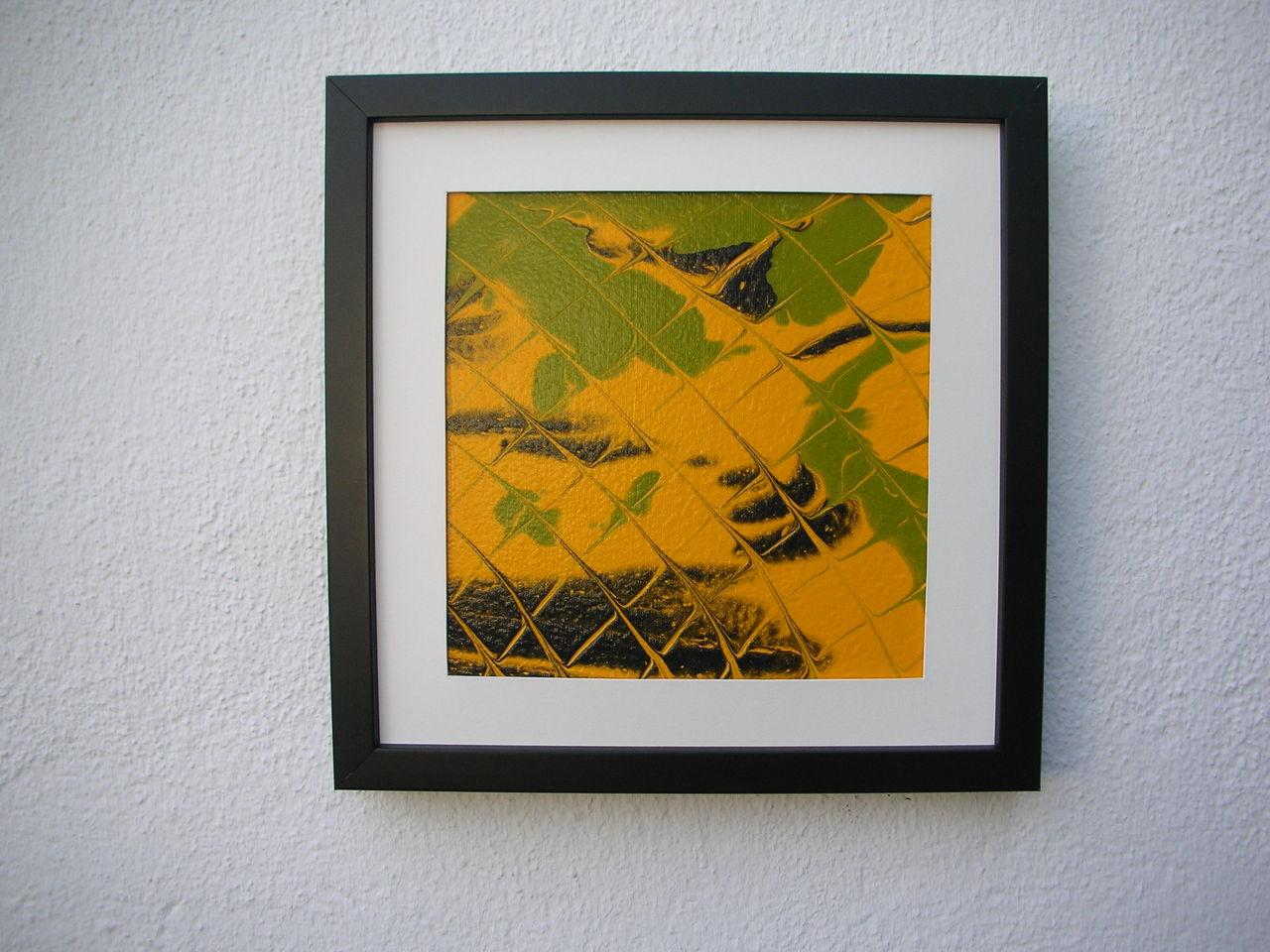 dscn2421 gelb glas gr n schwarz von g nter klemusch bei kunstnet. Black Bedroom Furniture Sets. Home Design Ideas