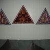 Elefant, Dekoration, Dreiecke, Mischtechnik