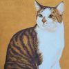 Ölmalerei, Schichtenmalerei, Katze, Wip