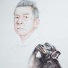 Affe, Portrait, Zeichnung, Tuschmalerei