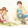 Tuschmalerei, Illustration, Kinder, Märchen