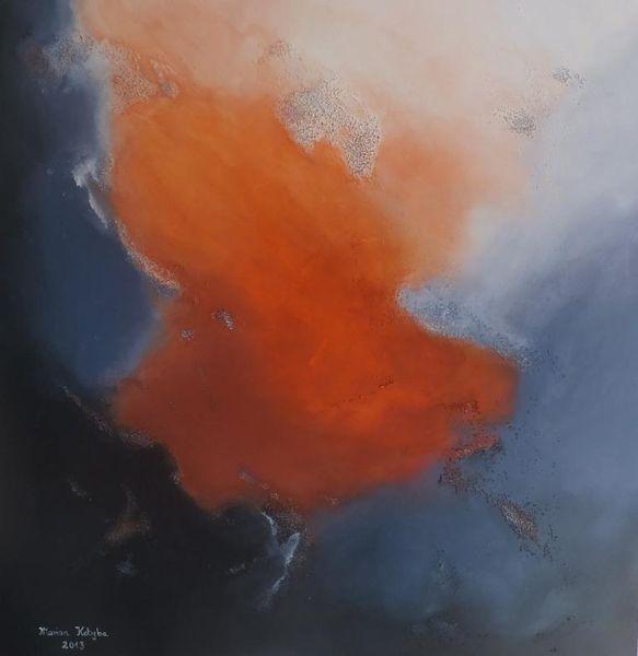 Sinnlichkeit, Grau, Verlangen, Illusion, Acrylmalerei, Nebel