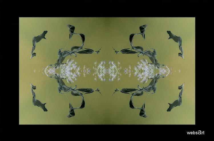 Spiegelung, Verwehen, Weber, Tuch, Collage, Himmel