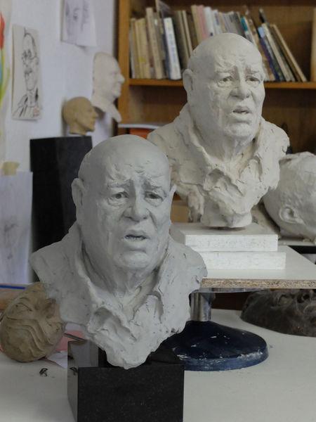 Scharf, Weise, Keramik, Gesicht, Menschen, Plastik