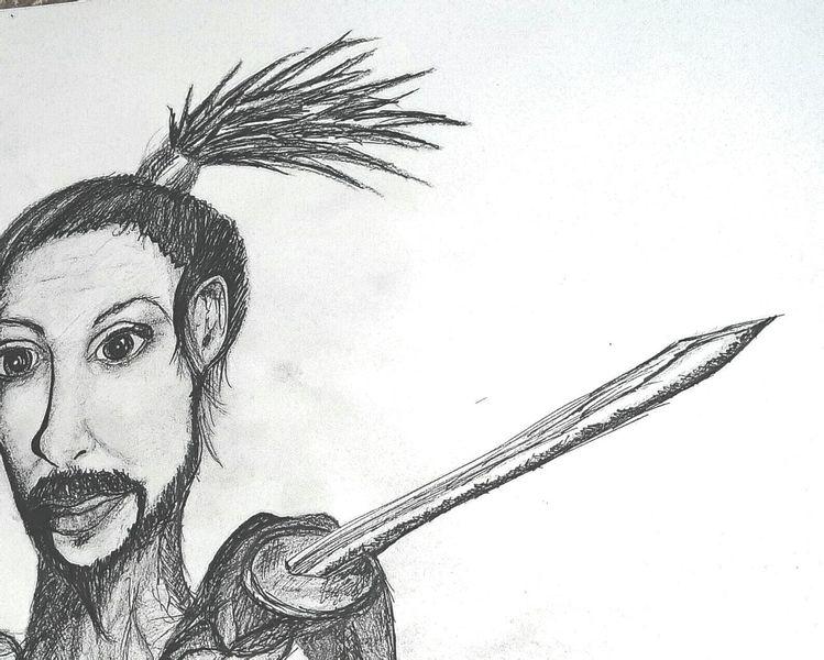 Abstrakt, Portrait, Bleistiftzeichnung, Comic, Karikatur, Malerei
