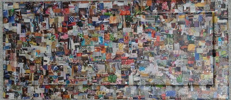 Leben, Bunt, Collage, Illustrationen