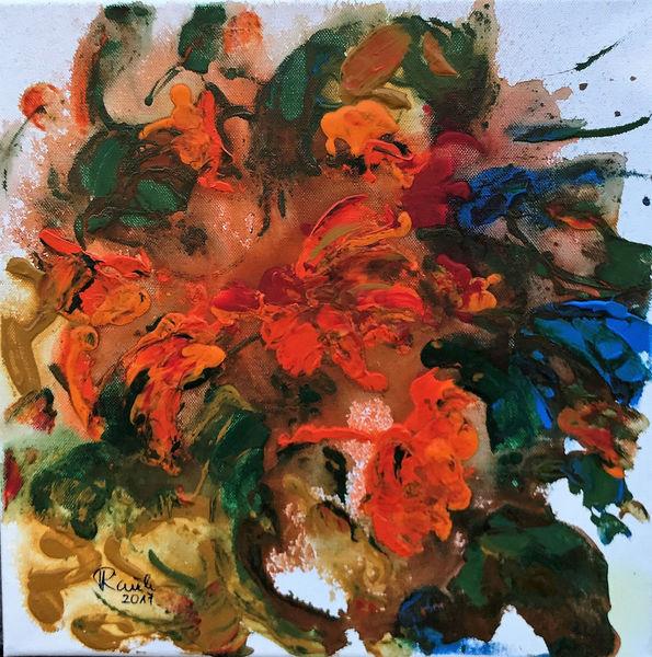Blumen, Kraut, Kapuzienerkresse, Malerei