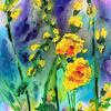 Blumen, Freesien, Farben, Malerei