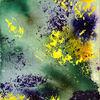 Farben, Feuerwerk, Grün, Gelbe sträucher