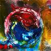 Farbenh, Ying yang, Abstrakt, Explosion