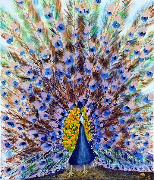 Pfauenfeder, Airbrush, Schönheit, Malerei