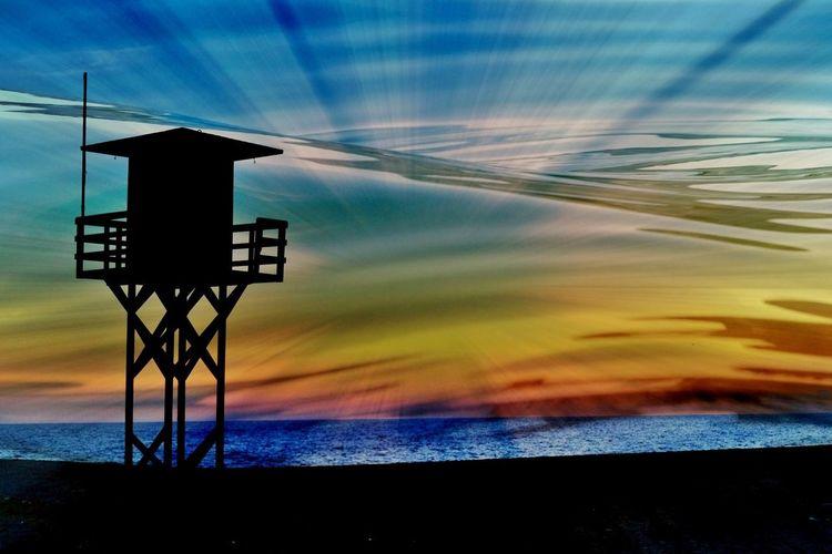 Motril, Andalusien, Abendstimmung, Meer, Sonnenuntergang, Strand