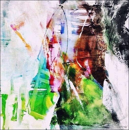 Fusion, Bunt, Fotografie, Malerei, Abstrakt, Mischtechnik