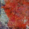 Pink weiß, Schrift, Acrylmalerei, Orange