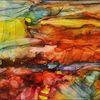 Landschaft, Fantasie, Tinte, Malerei