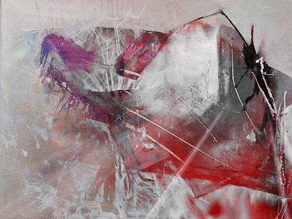 Weiß, Abstrakt, Violett, Gefühl, Mischtechnik, Rot