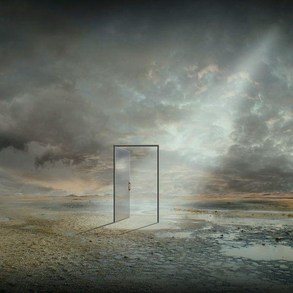 Strand, Tür, Ewigkeit, Wasser, Traum, Tagtraum