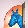 Pferde, Relief, Blau, Sthl